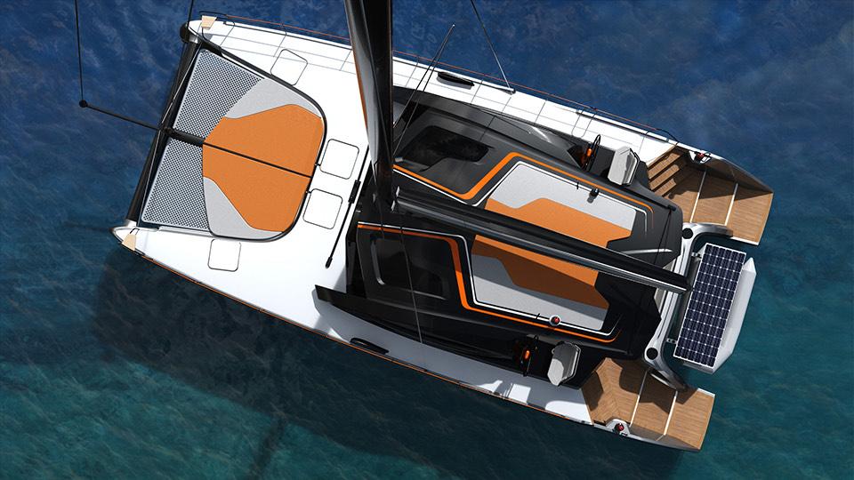 design extérieur personnalisable du catamaran c-catamarans 56 pieds