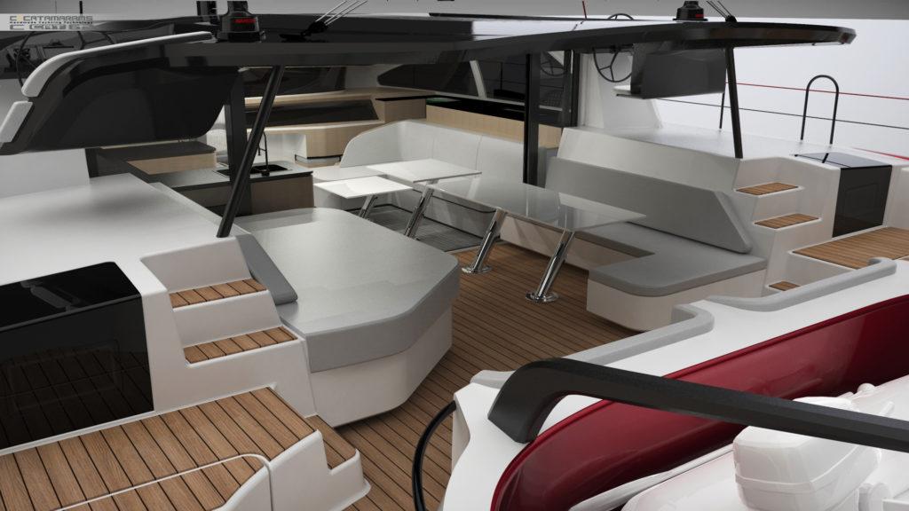 un design luxueux de C-Catamarans C-Cat 62