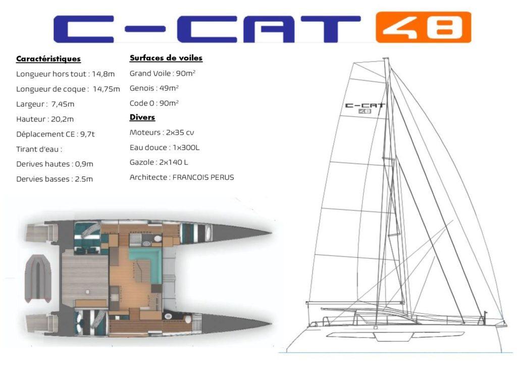 plan de construction de nouveau catamaran 48 pieds C-CAT 48 de C-Catamarans
