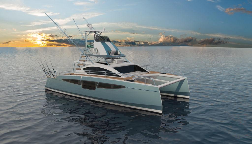 c-cat 40 catamaran à moteur personnalisable de c-catamarans france
