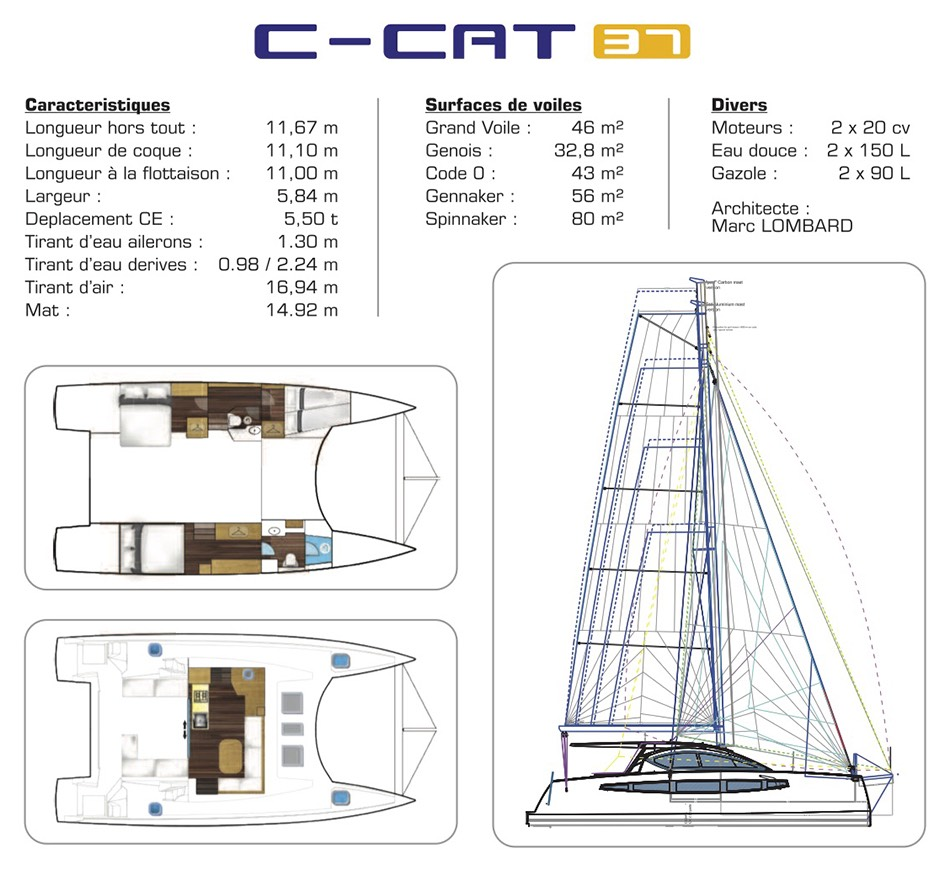 C-CAT 37 informations de catamaran 37 pieds C-Catamarans construction
