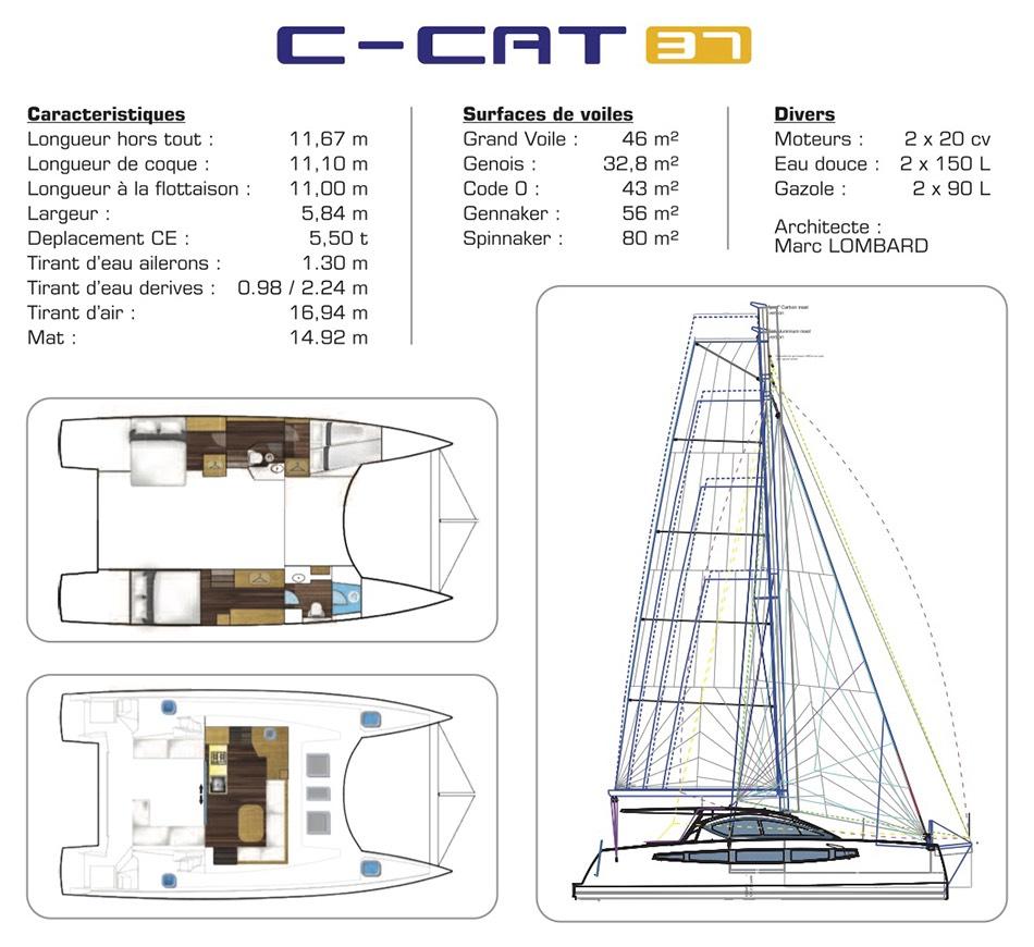 C-CAT 37 informations de catamaran 37 pieds C-Catamarans construction