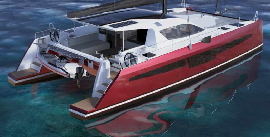le nouveau catamaran c-cat 48 version rouge