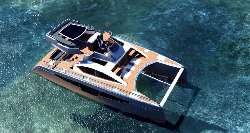 catamaran à moteur