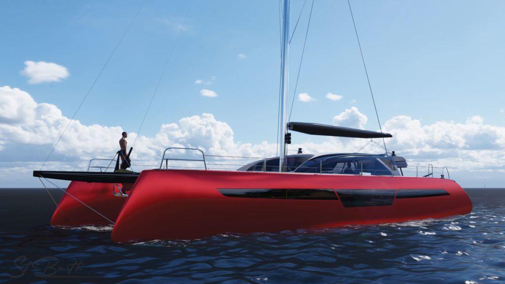 C-cat-62-catamaran-sur-mesure-c-catamarans-catamaran-personnalisable-design rouge
