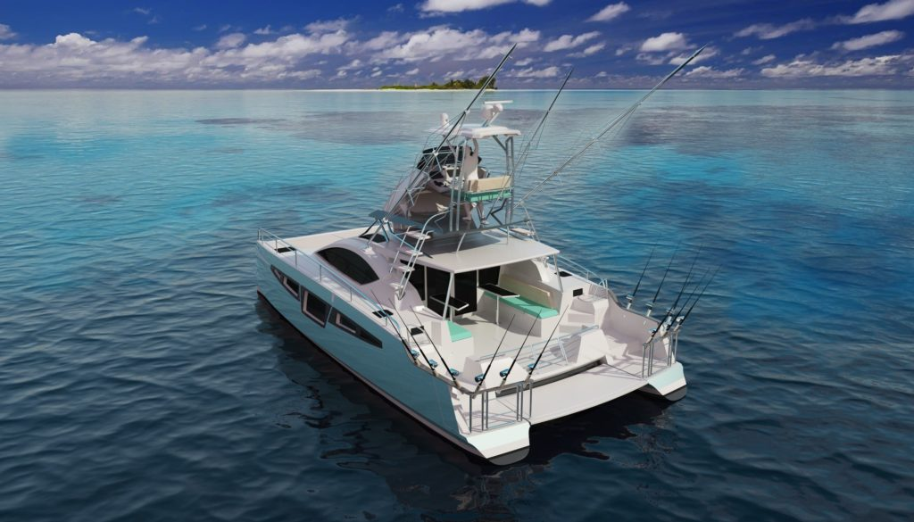 catamaran à moteur c-cat 40 powerfish de c-catamarans