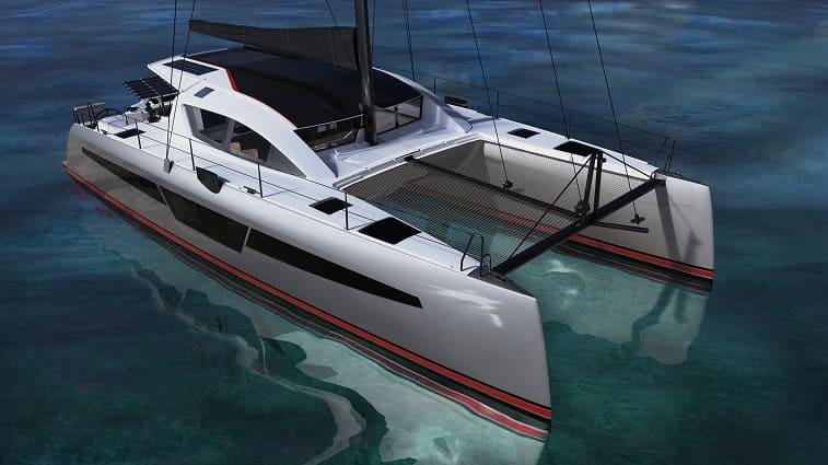 le nouveau catamaran c-cat 48 dans l'eau