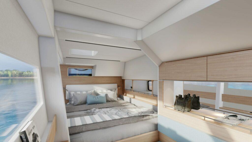 la chambre du nouveau catamaran c-cat 48