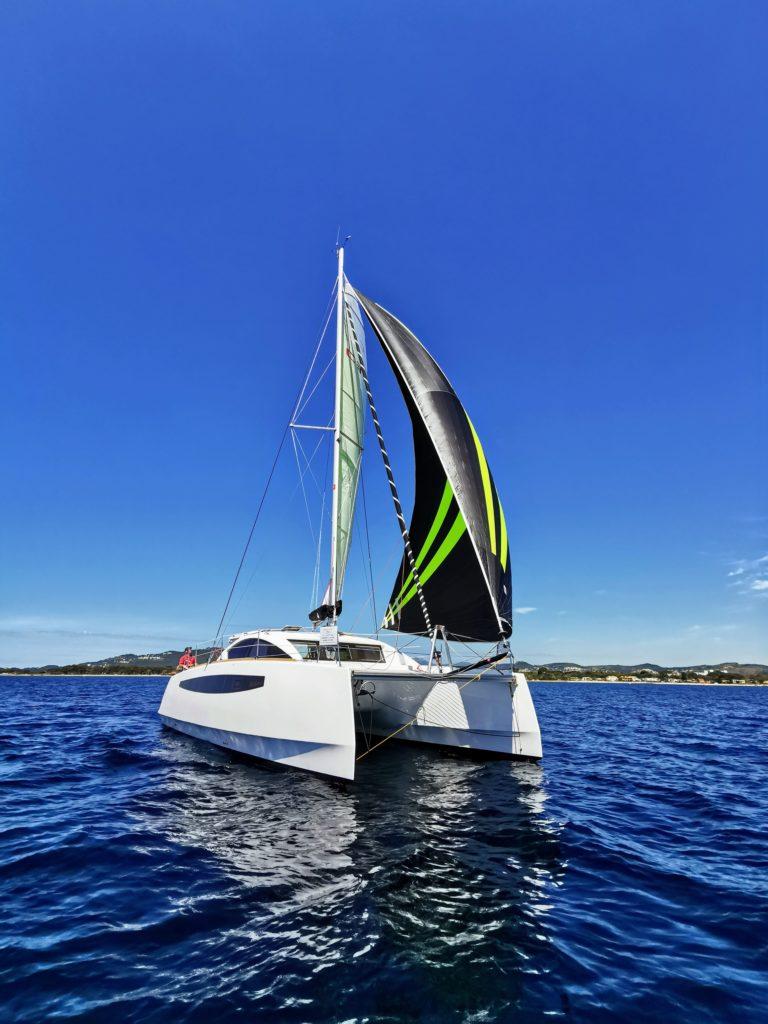 catamaran c-cat 37 en croisière