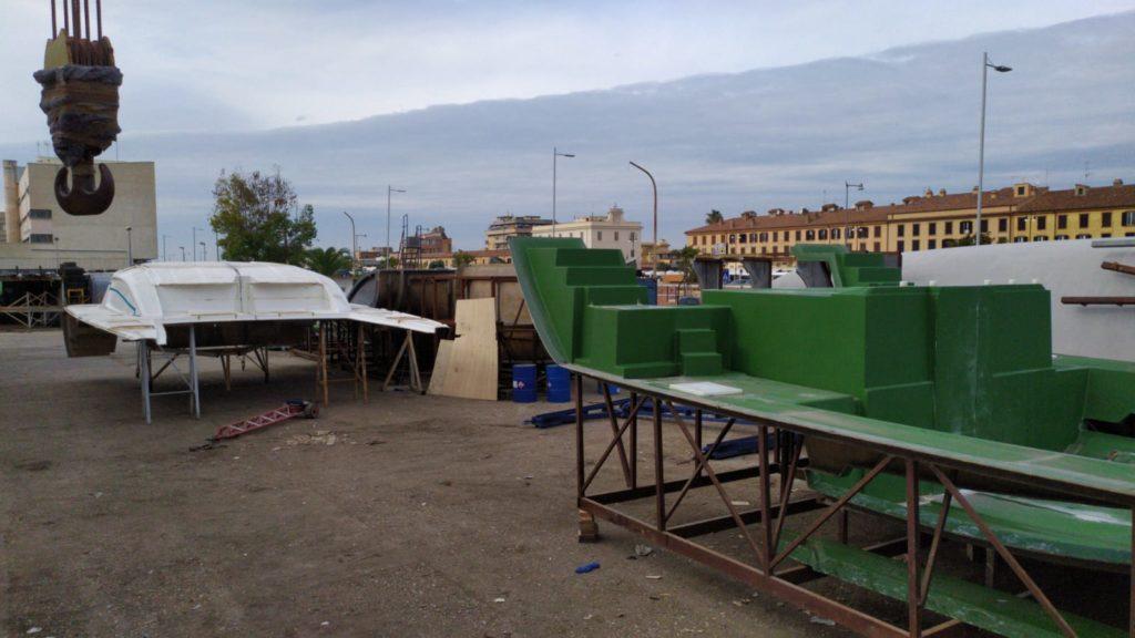 la construction du nouveau catamaran c-cat 48