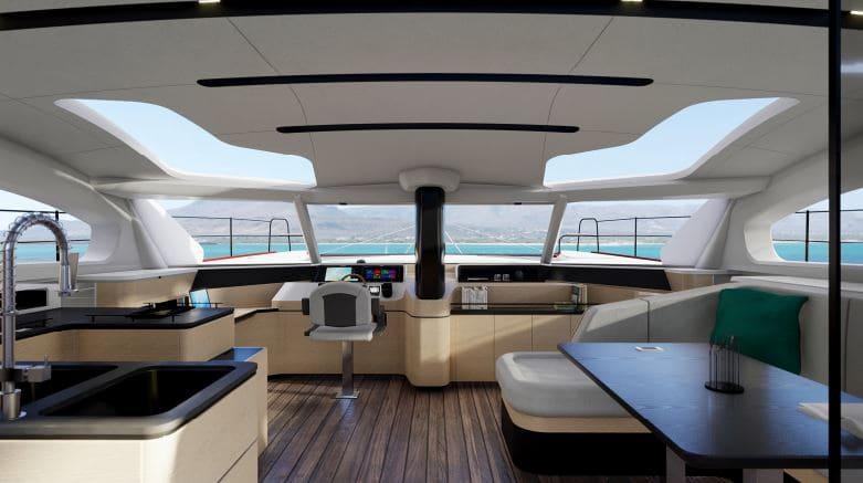 le design intérieur du c-cat 56 c-catamarans