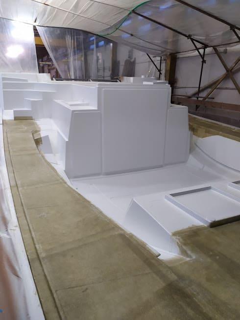 étape N°6 de la construction du catamaran c-cat 37