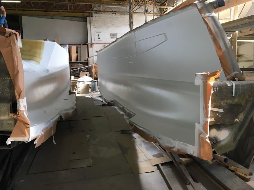 étape N°1 de la construction du catamaran c-cat 37