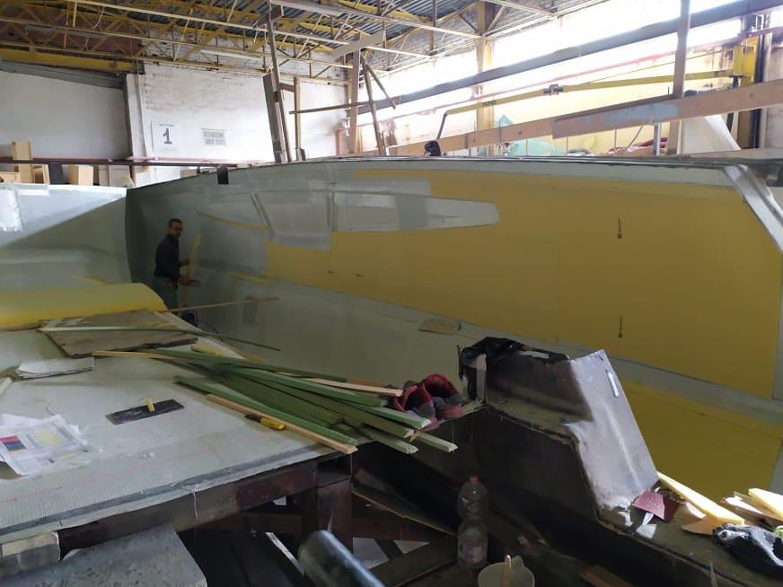étape N°2 de la construction du catamaran c-cat 37
