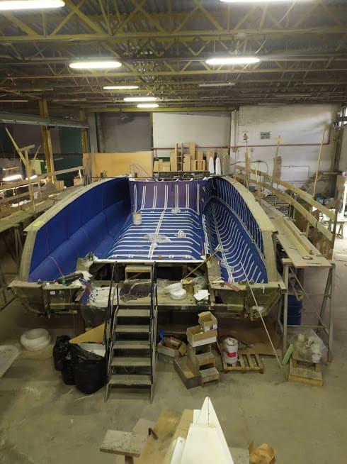 étape N° 4 de la construction du catamaran c-cat 37