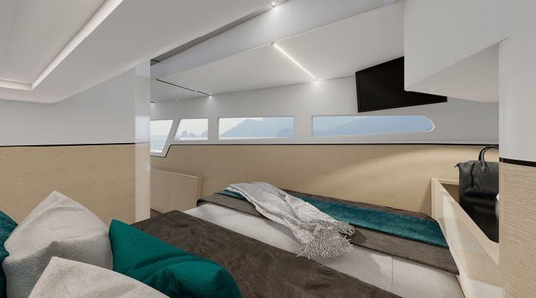 design intérieur du catamaran 56 pieds c-cat 56