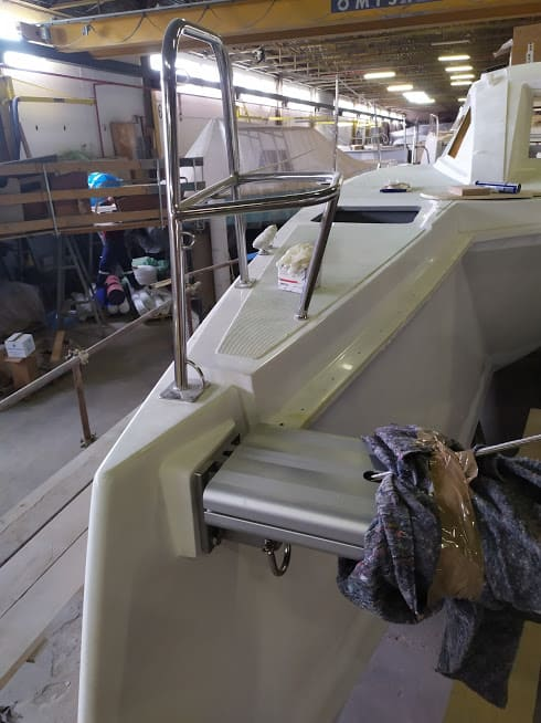 catamaran en construction